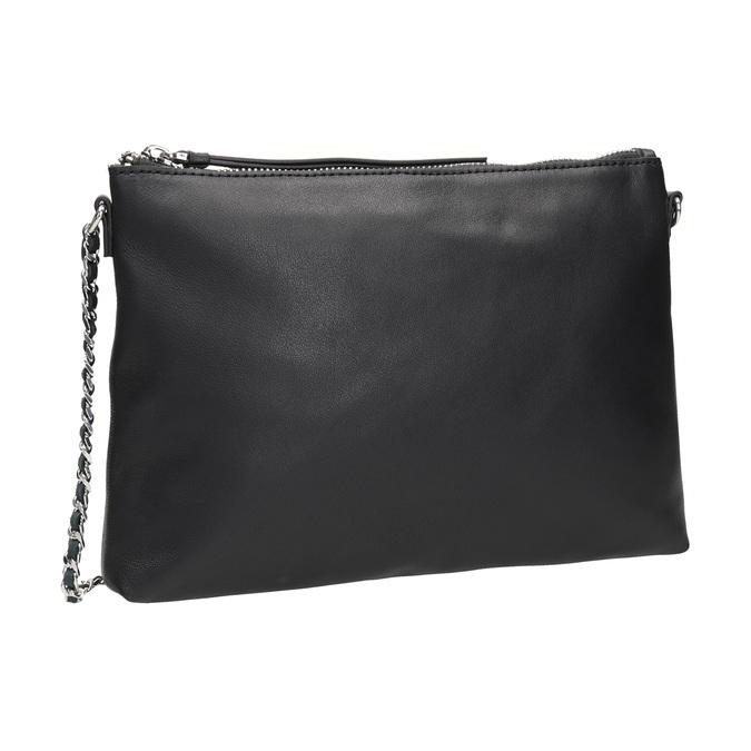 Černá kožená Crossbody kabelka bata, černá, 964-6292 - 13