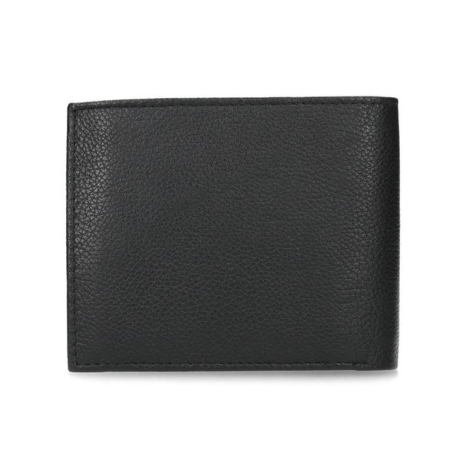 Kožená pánská peněženka s vroubky bata, černá, 944-6206 - 16