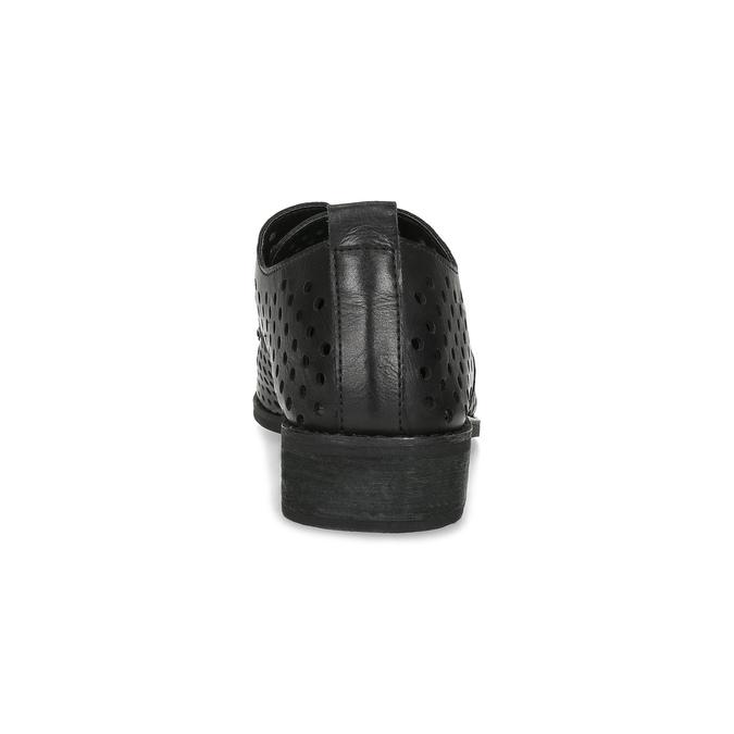 Dámské polobotky s výraznou perforací bata, černá, 521-6610 - 15