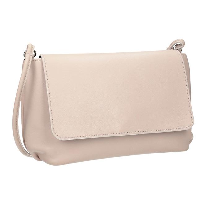 Krémová kožená kabelka bata, růžová, 964-9291 - 13