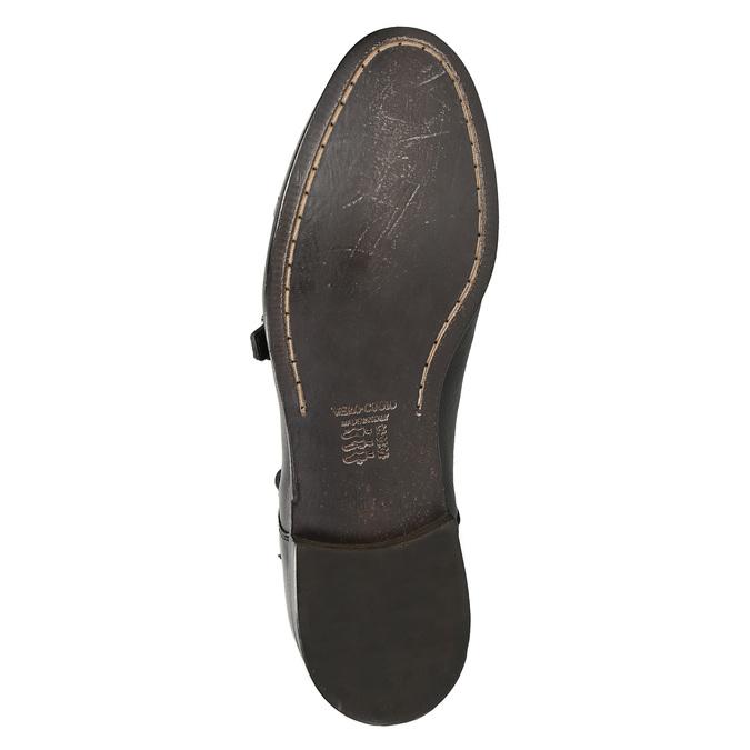Černé kožené Monk Shoes bata, černá, 824-6730 - 19