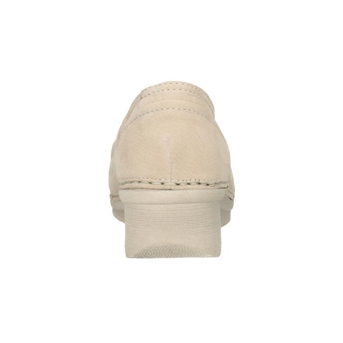 Kožené Slip-on na klínovém podpatku bata, 626-8646 - 16