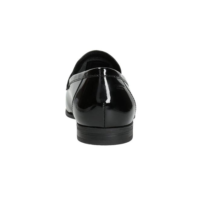 Lakované dámské kožené mokasíny vagabond, černá, 518-6095 - 16