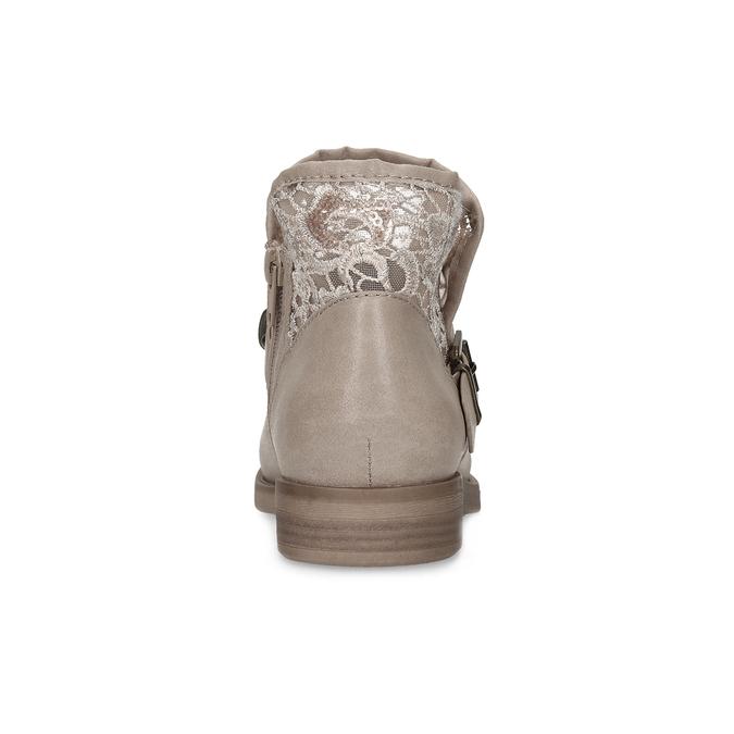 Dámské kozačky s krajkou bata, šedá, 591-2628 - 15