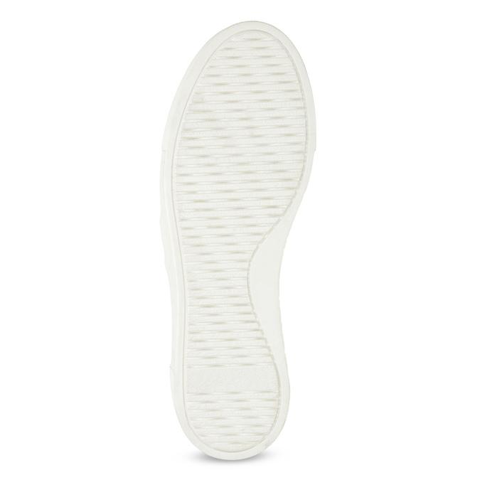 Kožená Slip-on obuv na flatformě bata, černá, 518-6601 - 18