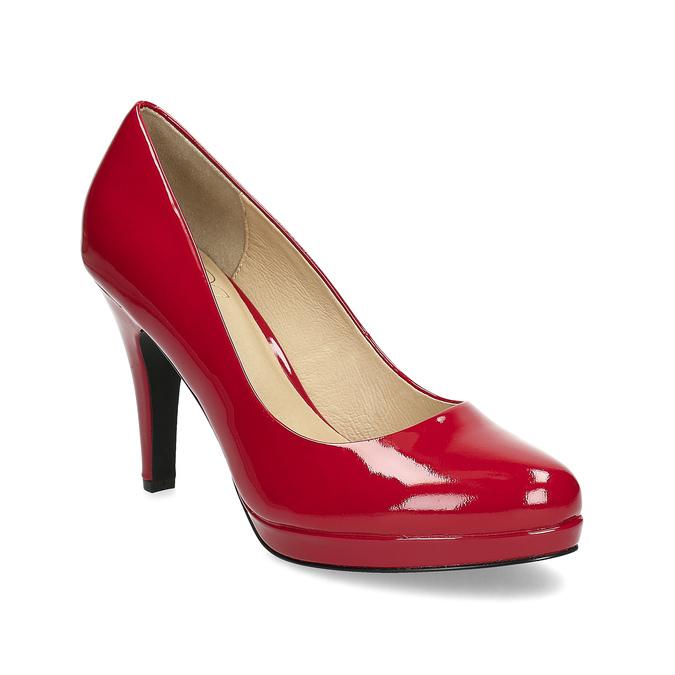 Červené lodičky z lakované kůže insolia, červená, 728-5104 - 13