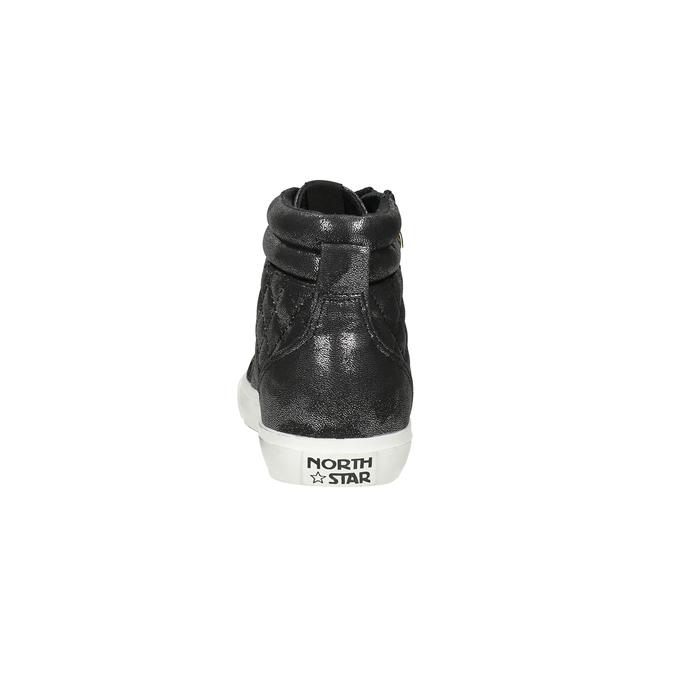 Černé dámské kotníčkové tenisky north-star, černá, 541-6600 - 15