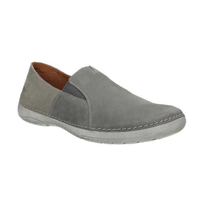 Pánské kožené Slip-on boty weinbrenner, šedá, 836-2602 - 13