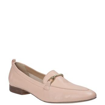 Kožené dámské mokasíny růžové bata, 516-5619 - 13