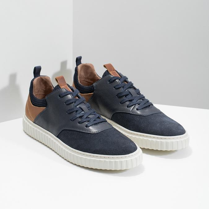 Ležérní kožené tenisky bata, modrá, 843-9637 - 26