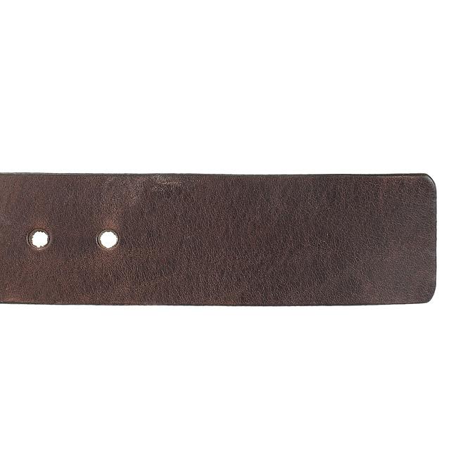 Pánský kožený opasek hnědý bata, hnědá, 954-4205 - 16
