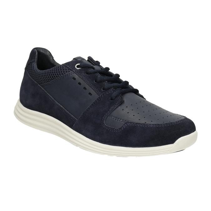 Pánské kožené tenisky bata-light, modrá, 844-9161 - 13