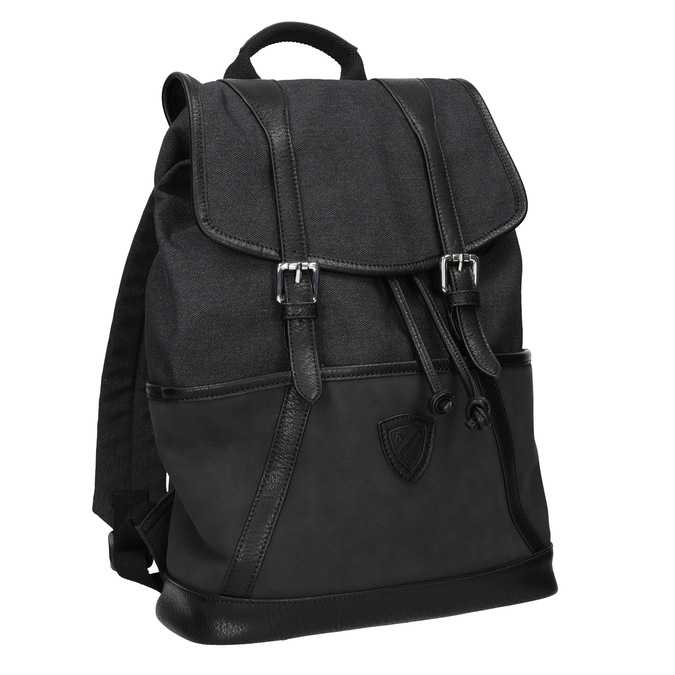 Unisex batoh s přezkami atletico, černá, 969-6678 - 13