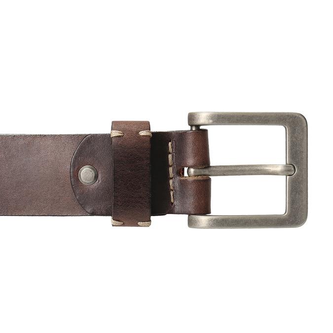 Pánský kožený opasek hnědý bata, hnědá, 954-4205 - 26