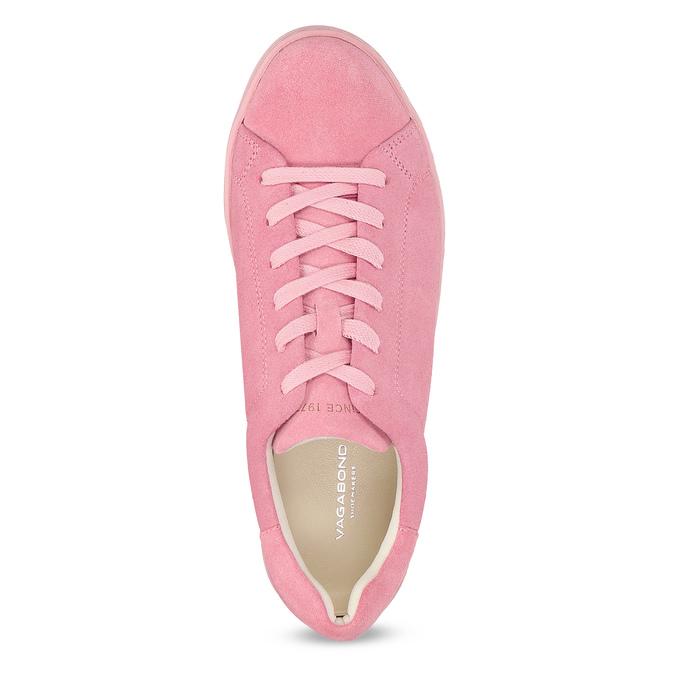 Růžové kožené tenisky na flatformě vagabond, růžová, 623-5050 - 17