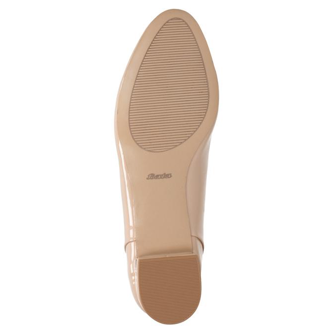 Béžové Loafers na nízkém podpatku bata, béžová, 511-8608 - 17