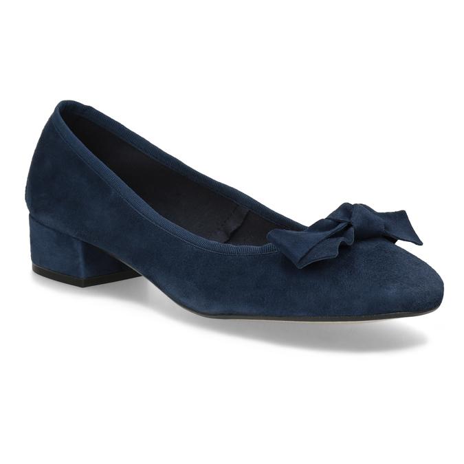 Baleríny z broušené kůže modré bata, modrá, 523-9420 - 13
