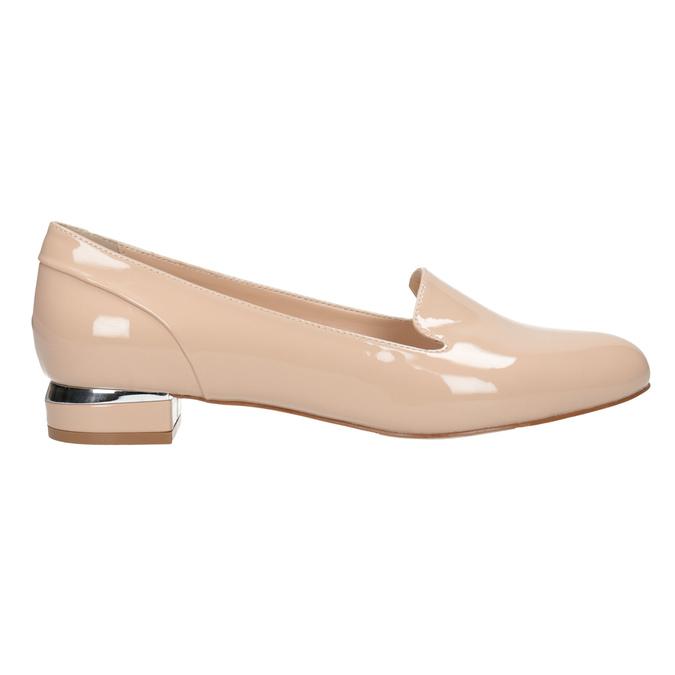Béžové Loafers na nízkém podpatku bata, béžová, 511-8608 - 26