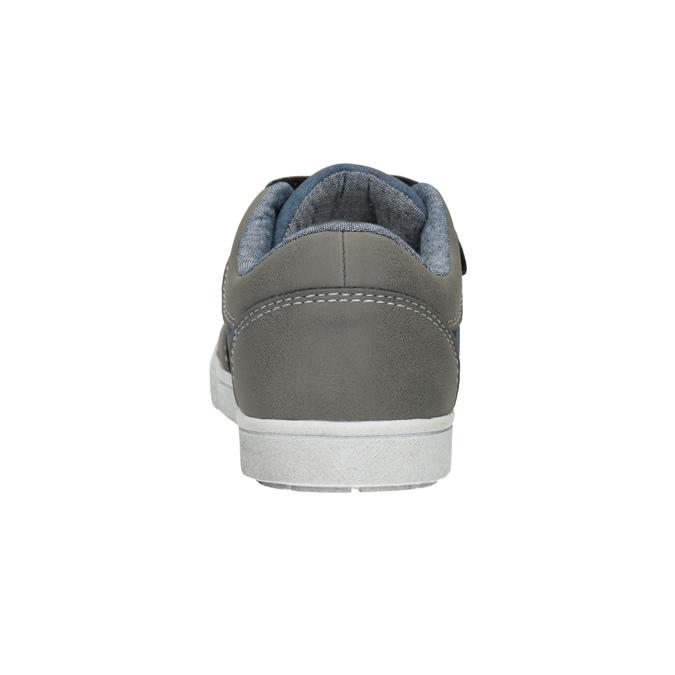 Dětské tenisky na suché zipy mini-b, šedá, 411-2101 - 16