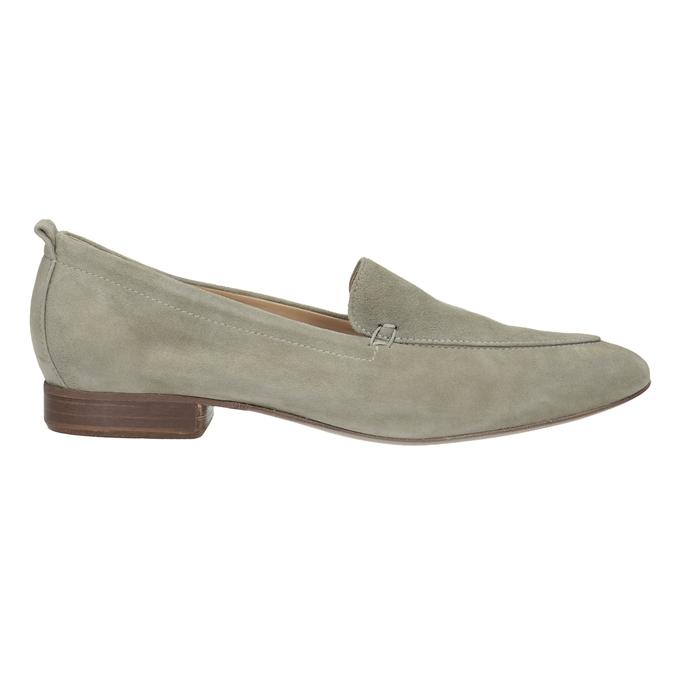 Dámské mokasíny z broušené kůže bata, béžová, 516-8618 - 16