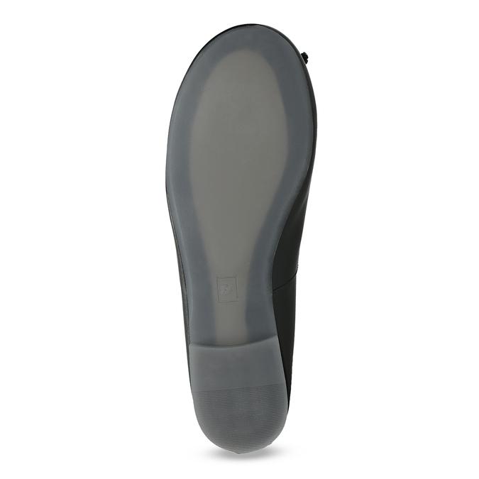 Kožené černé baleríny s mašličkou bata, černá, 524-6144 - 18