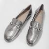 Stříbrné mokasíny s přezkou bata, stříbrná, 511-1609 - 16