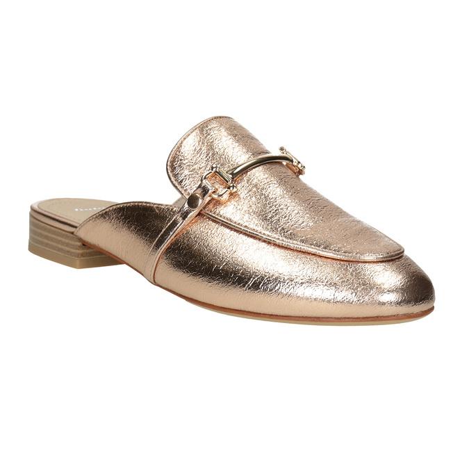 Dámské zlaté nazouváky s přezkou bata, zlatá, 511-8609 - 13
