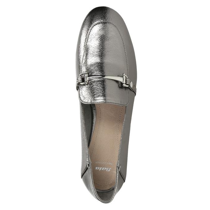 Stříbrné mokasíny s přezkou bata, stříbrná, 511-1609 - 15