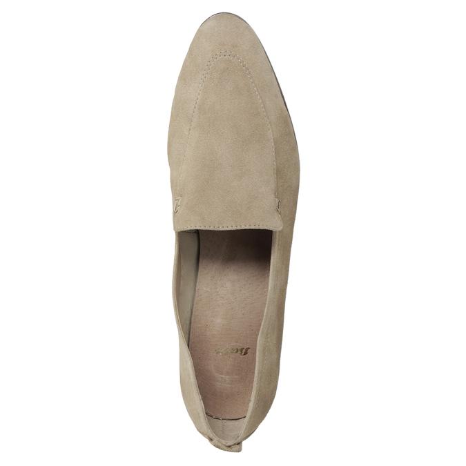 Ležérní mokasíny z broušené kůže bata, hnědá, 516-4618 - 17