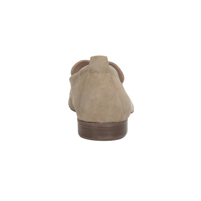 Ležérní mokasíny z broušené kůže bata, hnědá, 516-4618 - 15