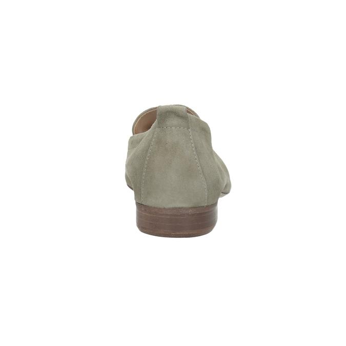 Dámské mokasíny z broušené kůže bata, béžová, 516-8618 - 15