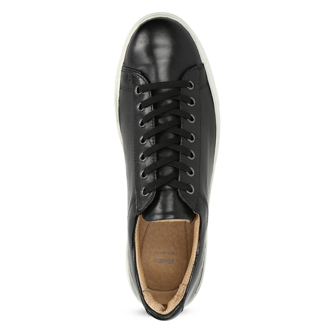Pánské kožené tenisky bata, černá, 844-6648 - 17
