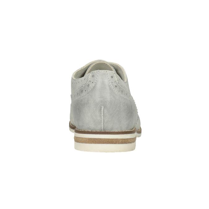 Dámské kožené Brogue polobotky bata, šedá, 526-1649 - 16