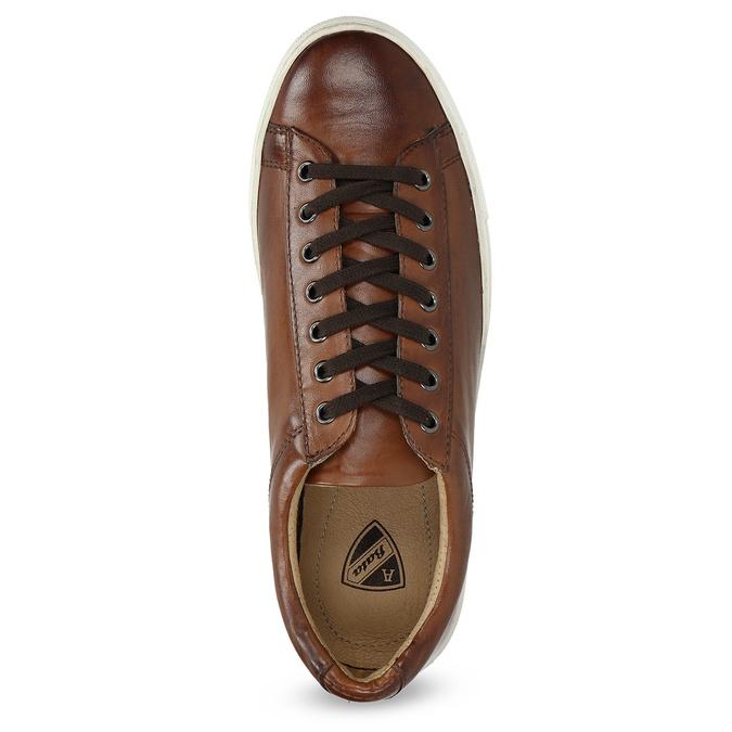 Kožené pánské tenisky bata, hnědá, 846-4648 - 17