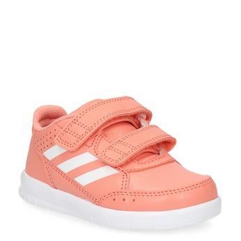 Dívčí růžové tenisky na suché zipy adidas, růžová, 101-5151 - 13