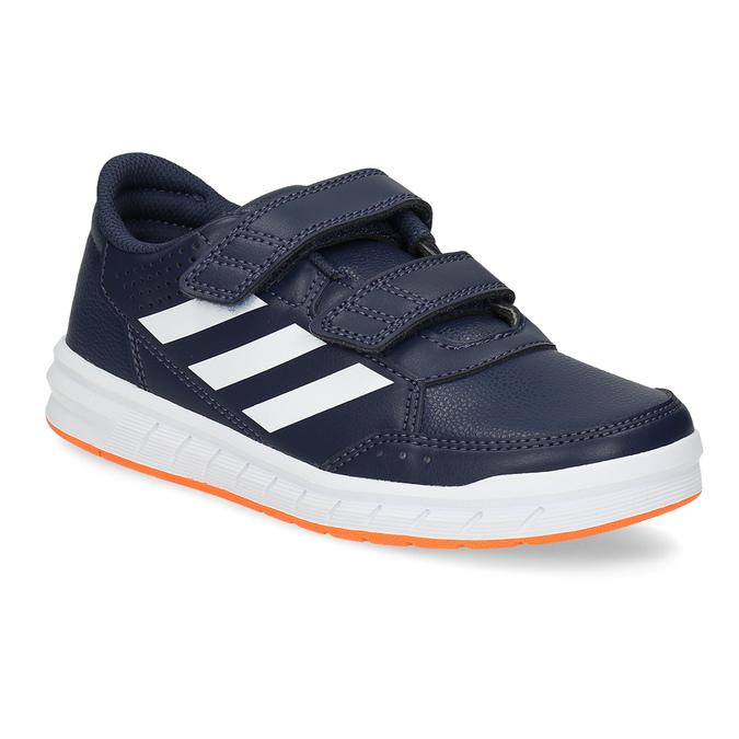 Modré dětské tenisky na suché zipy adidas, modrá, 301-9151 - 13