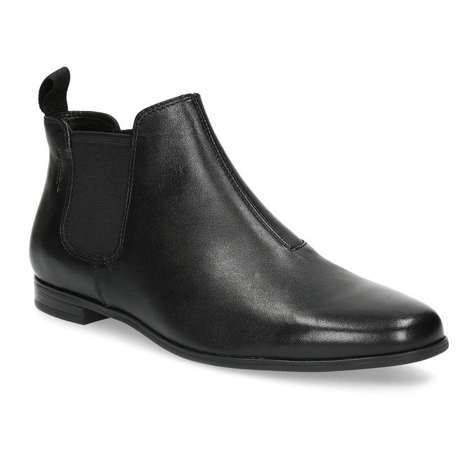 Černé kožené Chelsea Boots vagabond, černá, 514-6097 - 13