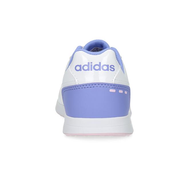 Dívčí bílé tenisky s růžovými detaily adidas, bílá, 401-1181 - 15