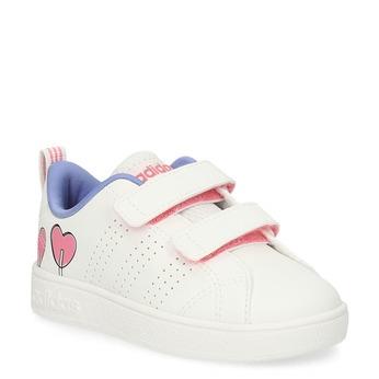 Dětské bílé tenisky se srdíčky adidas, bílá, 101-1129 - 13