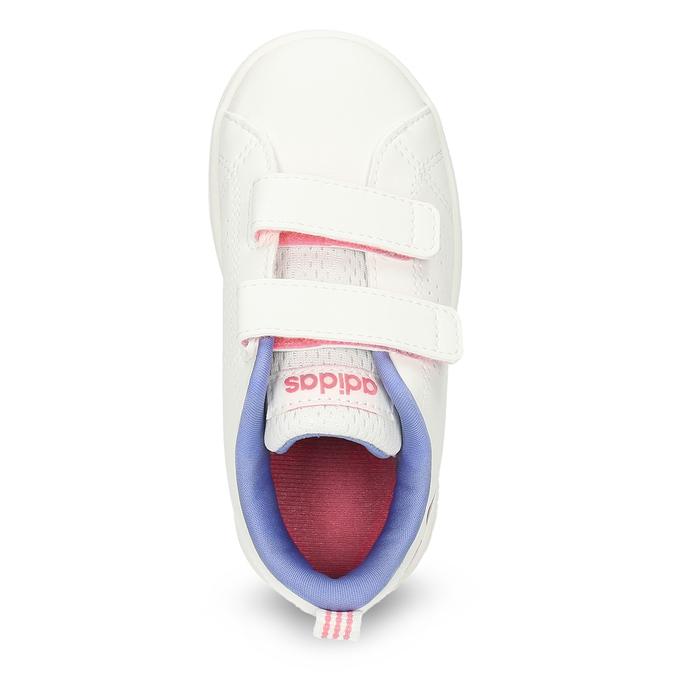 Dětské bílé tenisky se srdíčky adidas, bílá, 101-1129 - 17