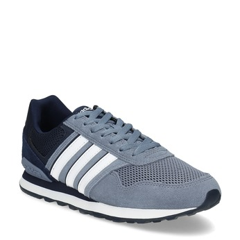 Pánské tenisky z broušené kůže adidas, modrá, 803-2293 - 13