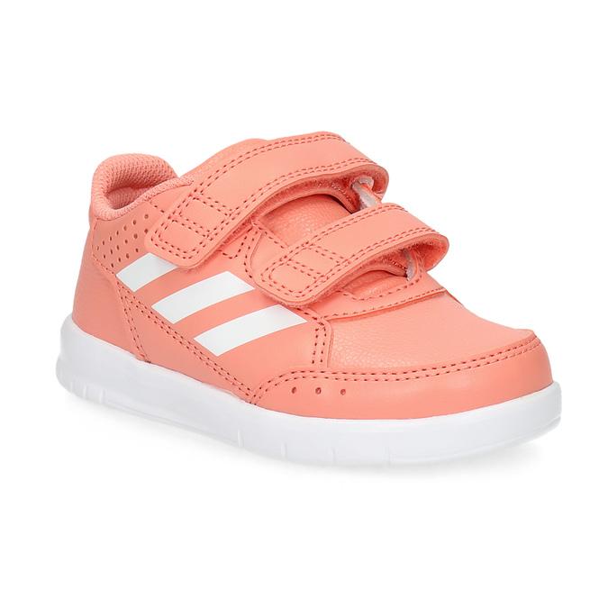 Dívčí růžové tenisky na suché zipy adidas, oranžová, 101-5151 - 13