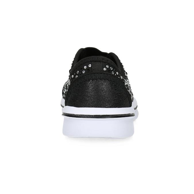 Slip-on tenisky s kamínky mini-b, černá, 329-6343 - 15