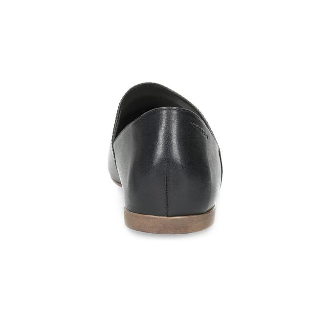 Kožené dámské Slip-on černé vagabond, černá, 514-6096 - 15