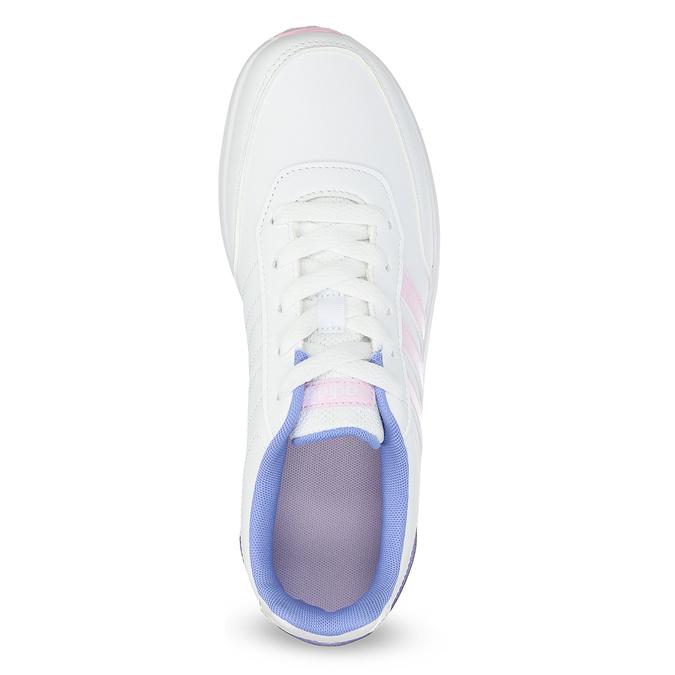 Dívčí bílé tenisky s růžovými detaily adidas, bílá, 401-1181 - 17