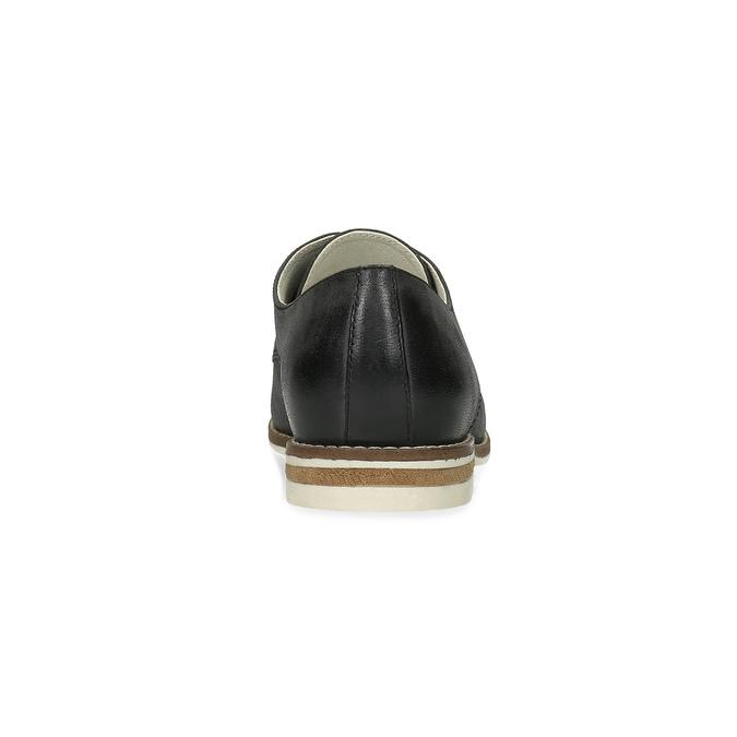 Kožené dámské polobotky bata, černá, 526-6650 - 15