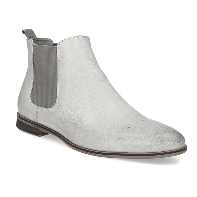 Kožená dámská Chelsea obuv bata, šedá, 596-1684 - 13