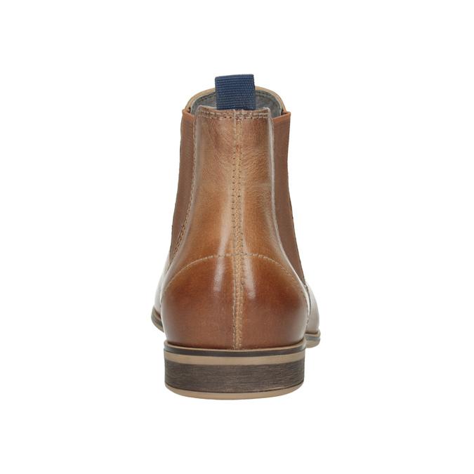 Dámská kožená Chelsea obuv bata, hnědá, 596-3684 - 16