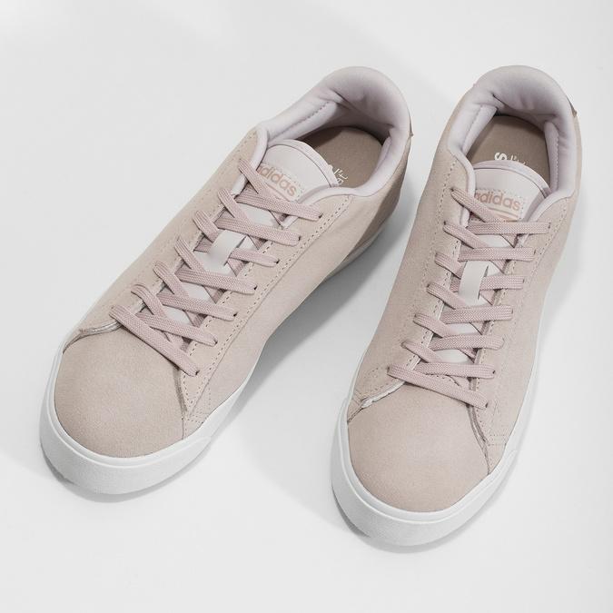 Růžové tenisky z broušené kůže adidas, růžová, 503-2554 - 16