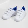 Bílé dětské tenisky na suché zipy adidas, bílá, 301-1968 - 16